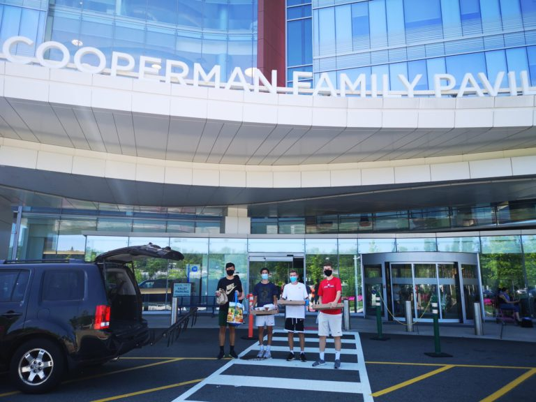 Delivering food to Saint Barnabas Medical Center
